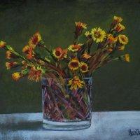 Мать-и-мачехи цветки  Словно солнца огоньки. (Картина написана пастелью). :: Лара Гамильтон