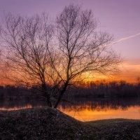 Закат на озере х.Цуревский :: Геннадий Клевцов