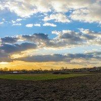 Яркое солнце заката и холодный ветер. :: Владимир M