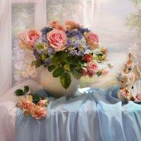 Нас розы нежный аромат манит в мечтательные дали... :: Валентина Колова