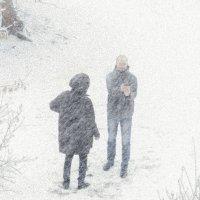 Сэлфи в сильный снегопад :: Марк Э