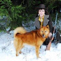 Охотница с карельскими лайками, 4 :: Kostas Slivskis