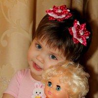 Моя Зайка со своей лялькой..... :: Анна Шишалова