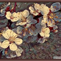 "картина ""Цветы абрикосы"" :: Владимир Бровко"
