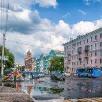Солнце над городом или на Ленина после дождя. :: Сергей Щелкунов