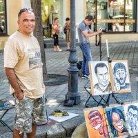 Уличный художник на Дерибасовской. :: Вахтанг Хантадзе