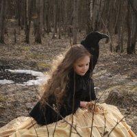 Девочка и ворон :: Анна Городничева
