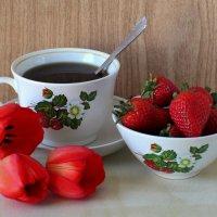 Чай с клубникой :: Татьяна Смоляниченко