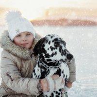 Лиза и её добродушная Герда :: Ольга