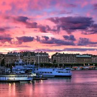 Сиреневый закат Стокгольма. :: Aleksandrs Rosnis