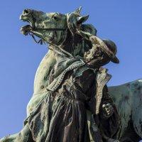 """Статуя """"Хардобадский укротитель диких лошадей"""" работы скульптора Дьердя Вастага.(фрагмент) :: Александр"""