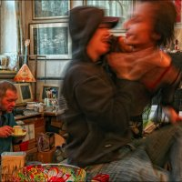 Константин Скотников в стиле #FrancisBacon :: Андрей Пашис