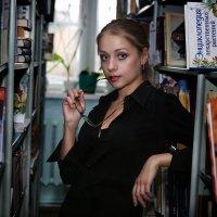 В библиотеке :: Екатерина Волк