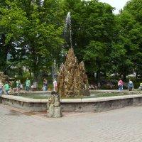 Декоративный  фонтан  в   Яремче :: Андрей  Васильевич Коляскин