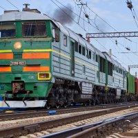 2ТЭ116 с поездом.... :: Владимир Кознов