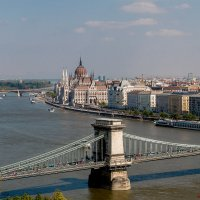 Будапешт. Мост Сечени и Парламент. :: Сергей Николаевич Бушмарин