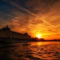 """""""Закатная""""...Сена,Париж,Франция... :: Александр Вивчарик"""