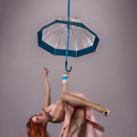 flying umbrella :: Gera Evtukhova