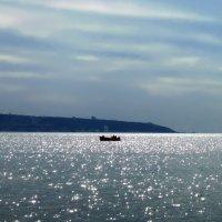 Акко.  Пасмурно... Вид на Хайфский залив. :: Надя Кушнир