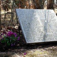 Мемориальная плита на братском кладбище в Латвии :: Горкун Ольга Николаевна
