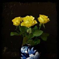 Жёлтые розы :: Nina Yudicheva