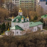 Вид на Петропавловский собор с 14 этажа Пермь. :: petyxov петухов