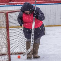хоккей на валенках :: Флюра Дудина