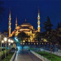 Голубая мечеть в Стамбуле ночью :: Ирина Лепнёва
