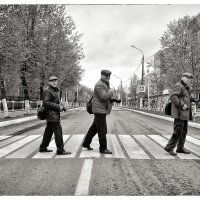 На пешеходном переходе :: Сергей Демянюк