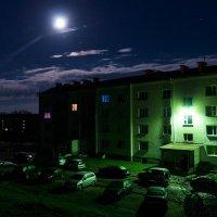 Вид с балкона в ночь полнолуния волка 11 мая 01-00.. :: Анатолий Клепешнёв