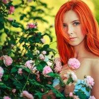 Цветы и девушка :: Сергей Морозов