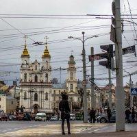 Витебск....перекресток или городская электропаутина :: Людмила Комарова