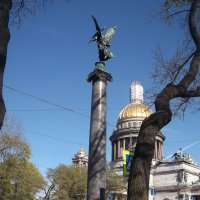 Вид на Исаакий  с Коногвардейского Бульвара :: Svetlana Lyaxovich