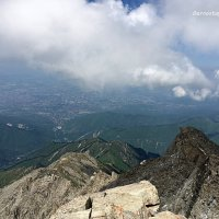 Вид на Алматы с вершины БАП (3682 м). :: Anna Gornostayeva