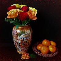 Розы и мандарины :: Nina Yudicheva