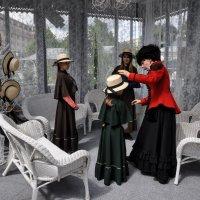 Салон дамских шляпок . Отдел для гимназисток... :: Анатолий Колосов