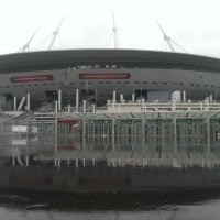 """Стадион """"Зенит-Арена"""" перед началом кубка Конфедераций :: Андрей Кротов"""