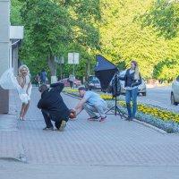 Мэрилин Монро и фотографы в Великом Новгороде :-) :: Олег Фролов
