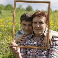 Бабушка с внуком :: Наталья