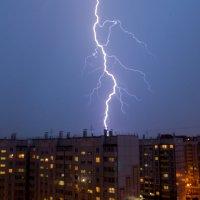 Гроза в Красноярске :: Константин Батищев