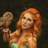 Рыжая и сова :: Татьяна Семёнова