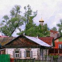 Тихая улица посреди села, домик деревянный, рядом тополя ... :: Евгений Юрков