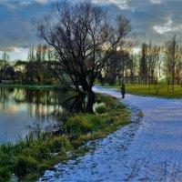 Одинокий рыбак на заснеженной дорожке... :: Sergey Gordoff