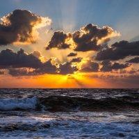 Закат над морем в Хайфе, Израиль :: raven owle