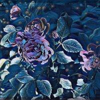 """картина  """"Розовый куст под лунным освещением"""" :: Владимир Бровко"""