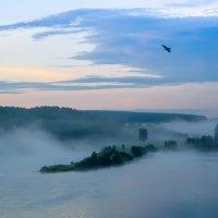 Туманное утро на озере Усовка :: Константин Батищев