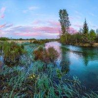 Изумрудные сумерки на реки Ижора :: Фёдор. Лашков