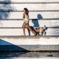 девочка с собакой :: sergio tachini