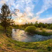 Золотой закат на реке Ижора :: Фёдор. Лашков