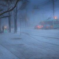 снежный вечер.. :: Георгий Никонов